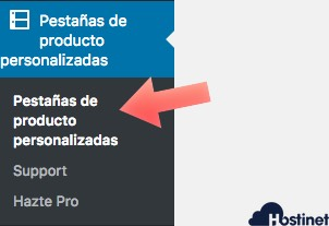 pestanas personalizadas woocommerce - WordPress