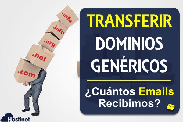 Transferir un Dominio Genérico - ¿Cuántos Emails Recibimos?