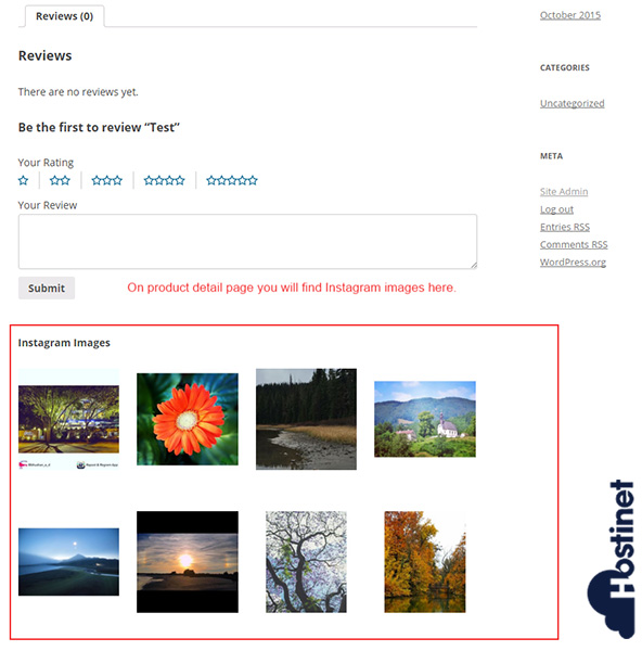 WooCommerce Instagram Product Photos Imágenes