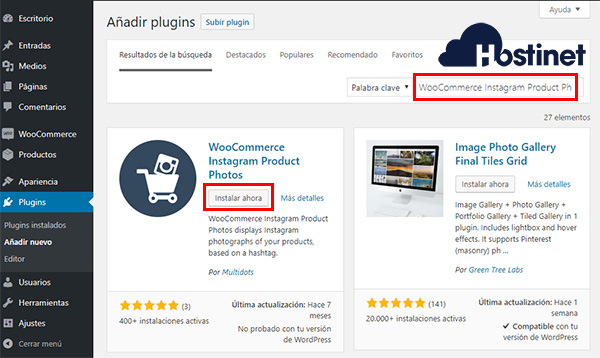 WooCommerce Instagram Product Photos Instalar