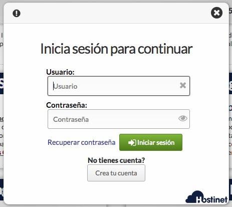 acceso a hostinet.com