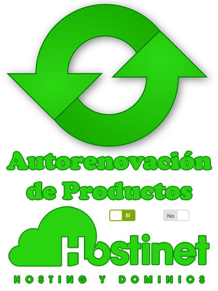 Autorenovación de Productos en Hostinet