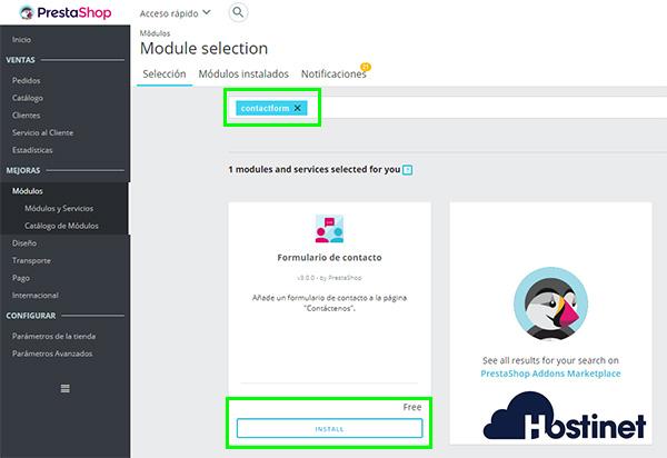 PrestaShop 1.7 Contactform Instalar