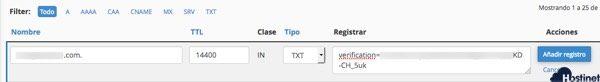 registro txt añadido en zone editor