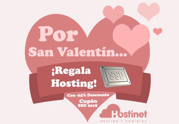 Por San Valentín Regala Hosting SSD