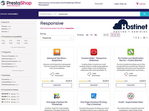 PrestaShop Addons Marketplace Responsive
