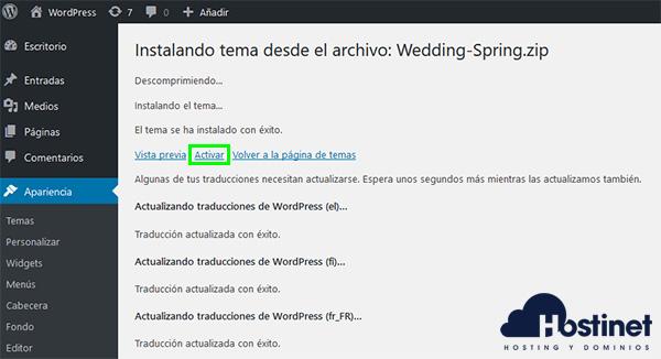 WP Wedding Spring Activar