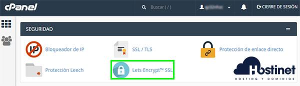 cPanel Seguridad Let's Encrypt SSL
