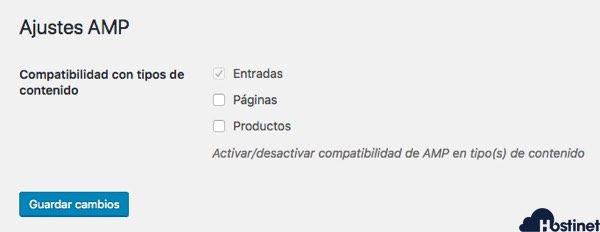 activar amp for wordpress entradas