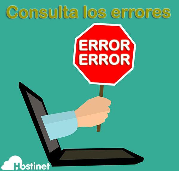 consulta errores