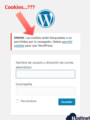 contrasena acceso WordPress bloqueada wordfence cookies