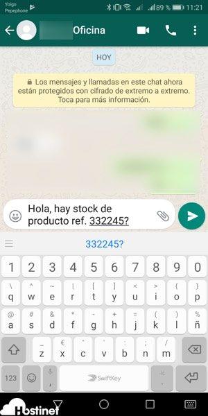 prueba mensaje whatsapp me enviado desde Whatsapp me