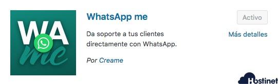 whatsapp me plugin para WordPress