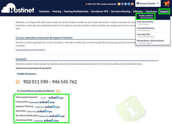 Hostinet Emails