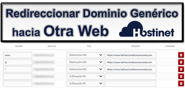 Redireccionar Dominio Genérico Otra Web