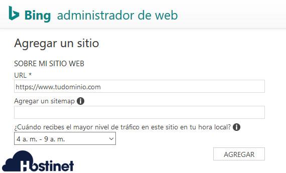 Bing Agregar Sitemap