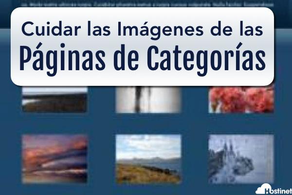 Cuida las Imágenes en Miniatura de las Páginas de Categorías