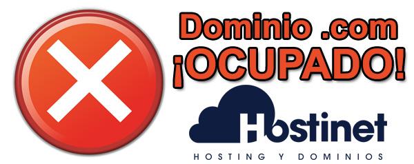 Dominio .com ¡Ocupado!