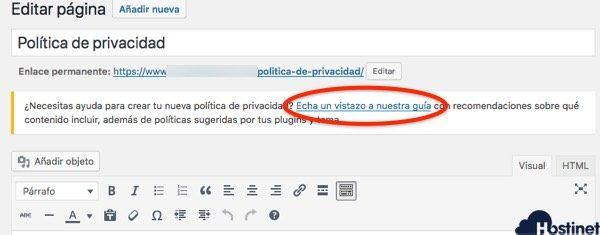 guia wordpress privacidad RGPD