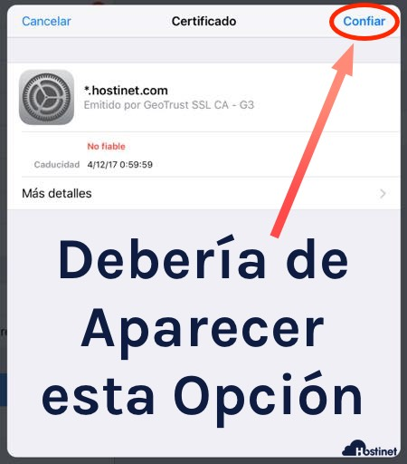 ios confiar certificado ok en iPhone o iPad