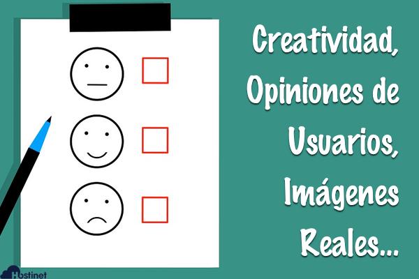 Creatividad, Opiniones de Usuarios, Imágenes Reales…