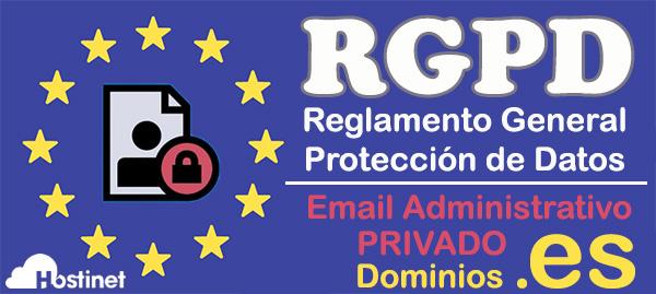 RGPD - Email privado Dominios .es