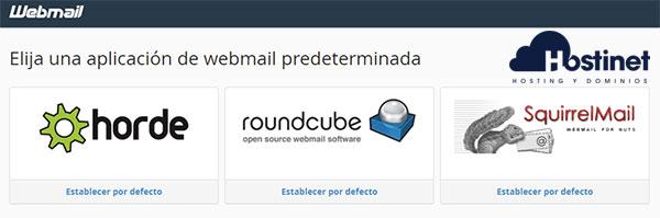 webmail gestores correo online