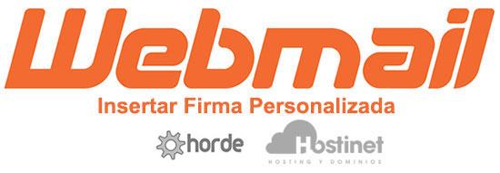 Webmail Horde Insertar Firma Personalizada