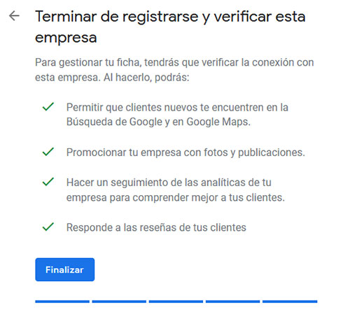 Google My Business Verificar
