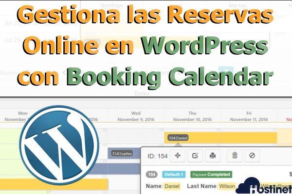 Gestiona las Reservas Online en WordPress con Booking Calendar