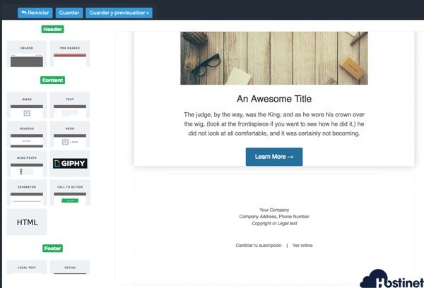 editor boletin medida Newsletter WordPress