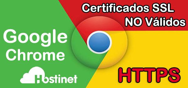 Google Chrome SSL No Válidos