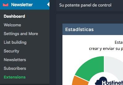 menu newsletter plugin WordPress