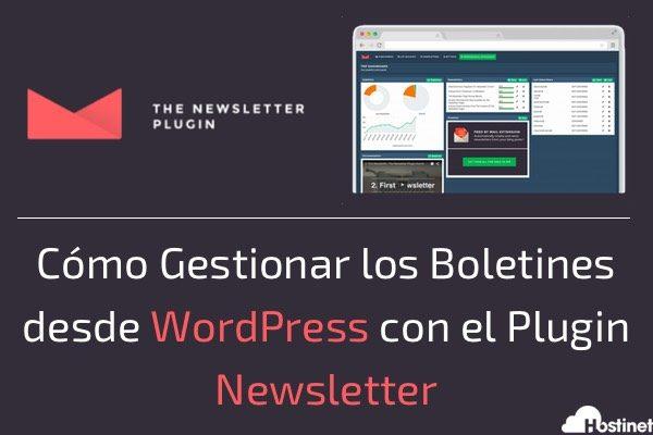 Cómo Gestionar los Boletines desde WordPress con el Plugin Newsletter