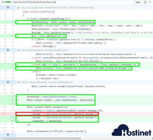 PrestaShop ContactController.php Github