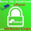 Borrar SSL Autofirmado cPanel