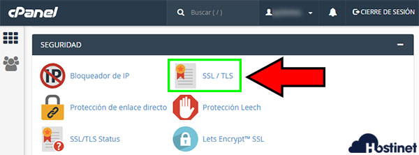 cPanel Seguridad SSL/TLS