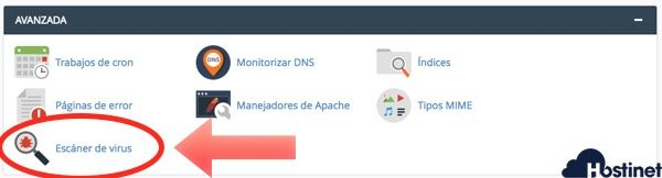 escaner virus cpanel en Hostinet