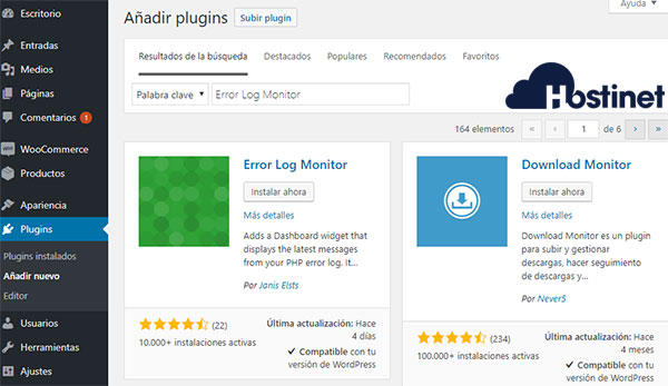 Error log monitor plugins instalar