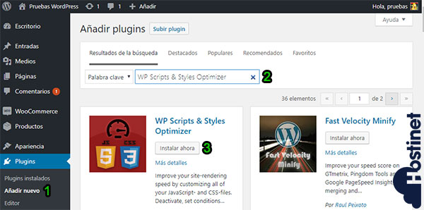 WP Scripts & Styles Optimizer Instalar