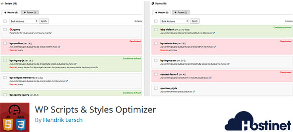 WP Scripts & Styles Optimizer