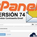 cPanel 74 email cambiar password