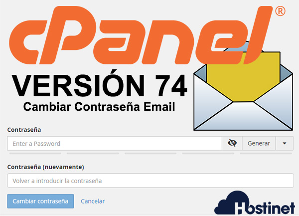 cPanel 74 cambiar contraseña email