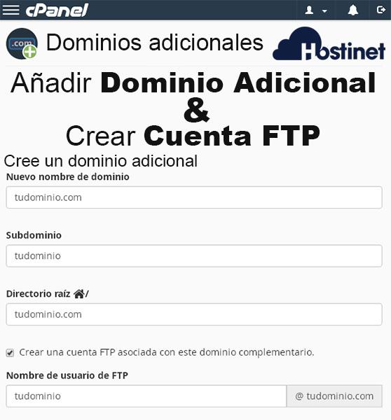 Cómo Añadir Dominio Adicional & Crear Cuenta FTP en cPanel