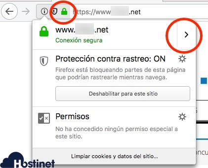 navegador web firefox click certificado