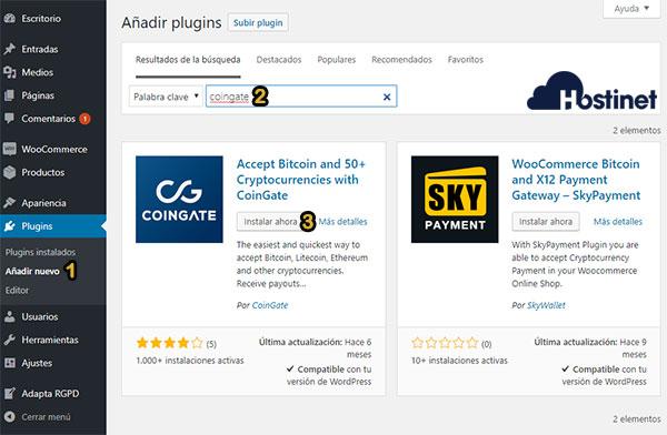 Plugin Bitcoin CoinGate Instalar