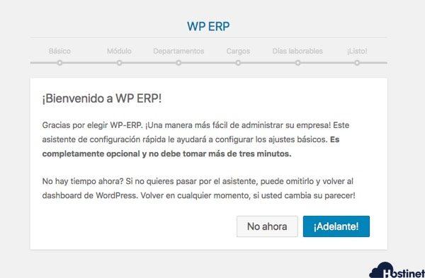 configuracion inicial wp erp en WordPress