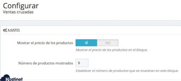 configurar módulo PrestaShop ventas cruzadas