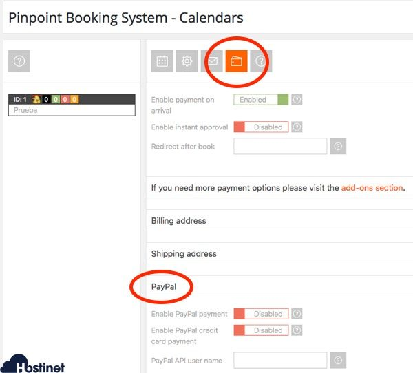 formas de pago calendario pinpoint WordPress