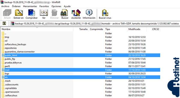homedir public_html mail etc